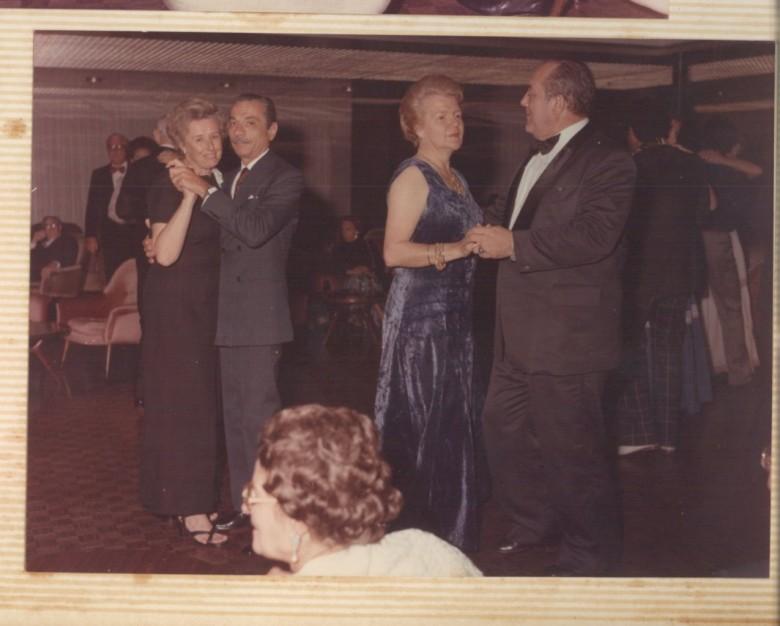 Dr. Dietrich Seyboth e Dna. Ingrun Seyboth, baile de gala. 1970.