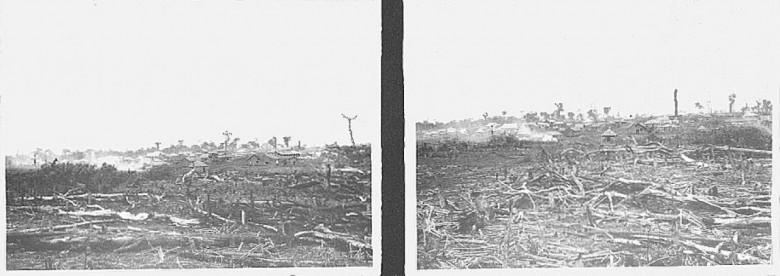 Vista parcial de General Rondon, em  1953.