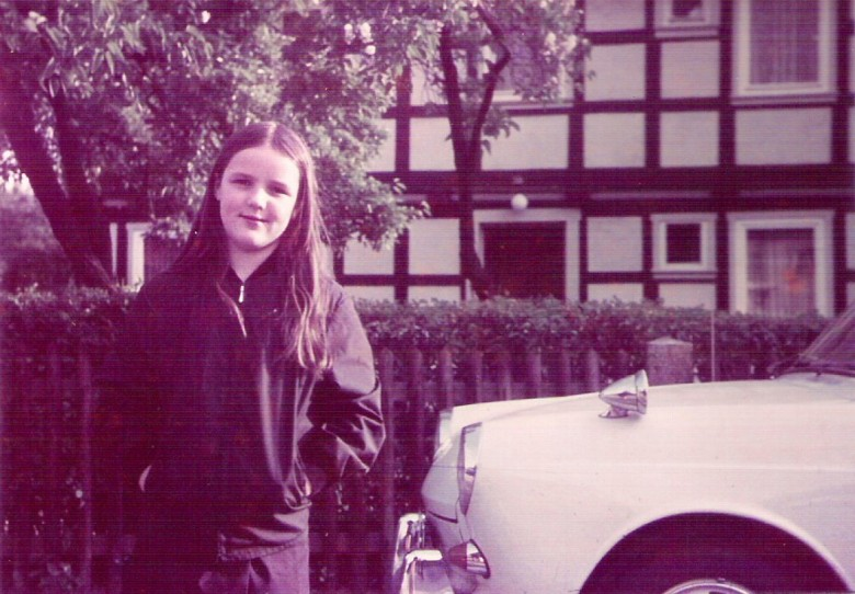 Ingrun Seyboth Lírio, na Alemanha. 1968.