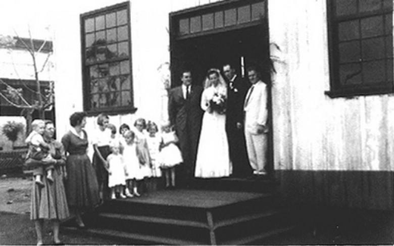 Casamento de José  e Margarida Feiden, em 1957.