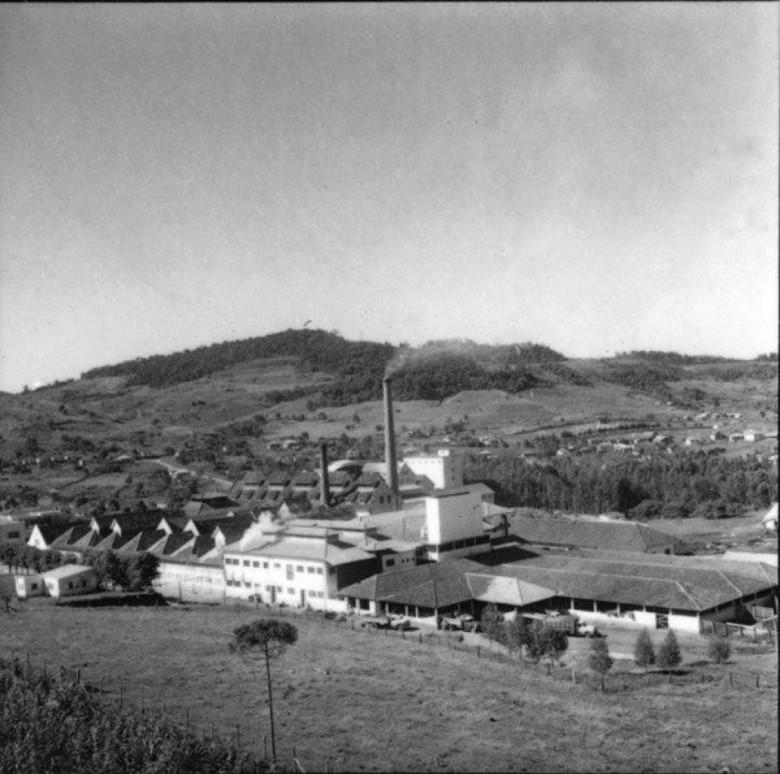 Frigorífico da Sadia, na cidade de Concórdia, SC, em 1959.