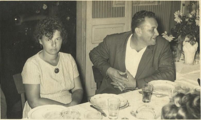 Casal pioneiro Hilda (Zastrow) e Ivo Koch, que estabeleceram o primeiro açougue em Marechal Cândido Rondon.