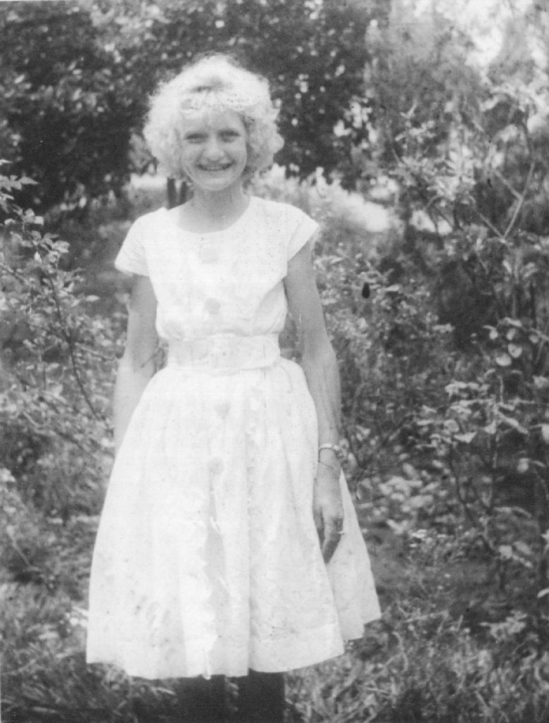 Lenir Winter, filha de Elli Maria (nascida de Buttinger) e Waldi Winter, em 1962.