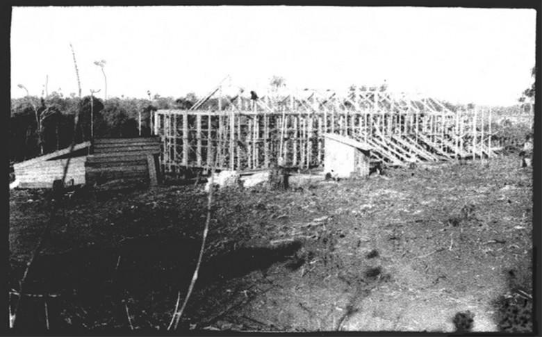 Estrutura da primeira etapa do Hospital Filadélfia, em 1953.
