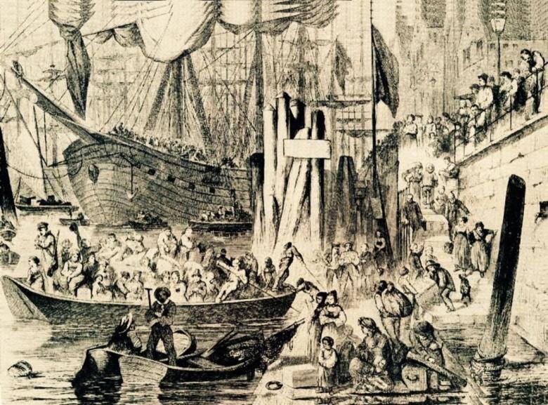 Em1850, jornais na cidade de Hamburgo, publicaram o desenho acima, de um artista chamado