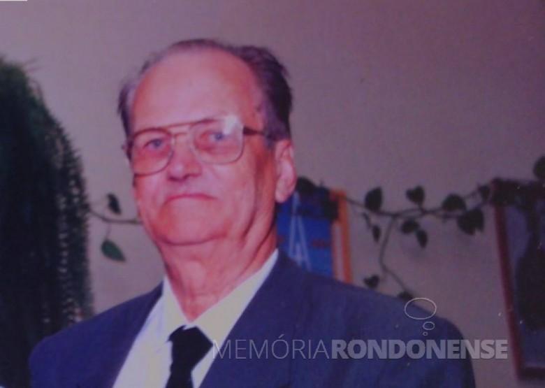Alfredo Krause - pioneiro rondonense que prestou relevantes serviços à Ciência.