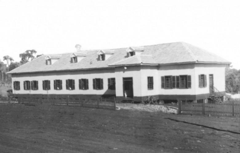 Hospital Filadélfia concluído, em 1954. Imagem: Acervo Famílias Seyboth e Nied .