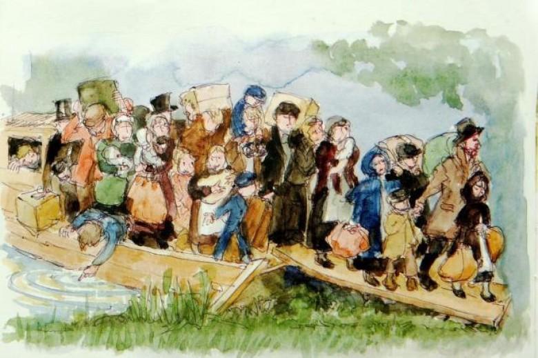 Desenho da artista gaúcha Rita Brugger, para o livro o