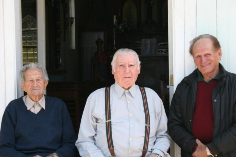Renato Mazzochini, Francisco Cemin e Arlindo Dellagrave,d a esquerda à direita.  Foto: Linore Cemin