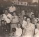 Evento comemorativo no Bar e Churrascaria de Rudolfo Carlos Augusto  Schroeder, na cidade de Marechal Cândido Rondon, na década de 1950. Ao fundo, alto, Alzido Arnaldo Schroeder. Segunda fila, meio): 1º- não identificada; 2º - professor Osmar Franke, 3º casal Amélia (nascida Vencatto) e José Feiden e 4º casal Inbgrun (nascida Klagges) e Dr. Friedrich Rupprecht Seyboth. Demais não identificados.