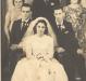 Noivos Adelaide Bendo e Arlindo Lodi com padrinhos.