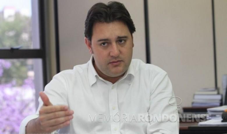 Deputado estadual Ratinho Júnior que esteve em Marechal Cândido Rondon, em maio de 2018.  Imagem: Acervo Portal Foz - FOTO 6 -