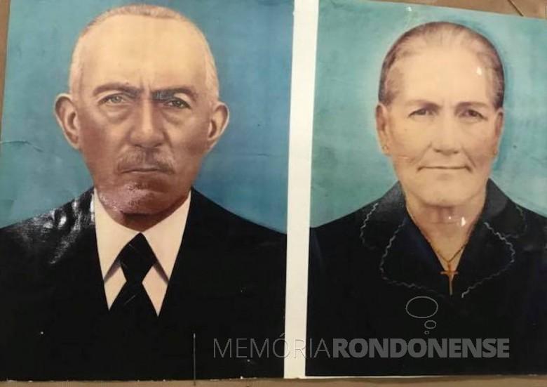 Casal Annunciate e Giuseppe Ricardi, imigrante italiano, avós de Marianino Ricardi.  Imagem: Acervo Claodete Ricardi - Garibaldi (RS) - FOTO 5 -