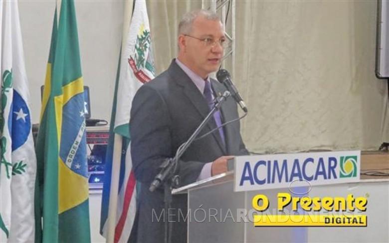 Empresário Gerson Froehner eleito presidente da ACIMACAR, 07 de abril de 2017.  Imagem: Acervo O Presente Digital -  Crédito: Joni Lang -  FOTO 9 -