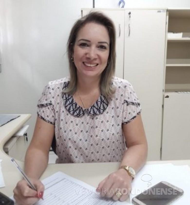 Tatiane Marchi Cardozo que assumiu a 35ª Ciretran, em março de 2019.  Imagem: Acervo O Presente - FOTO 5 -