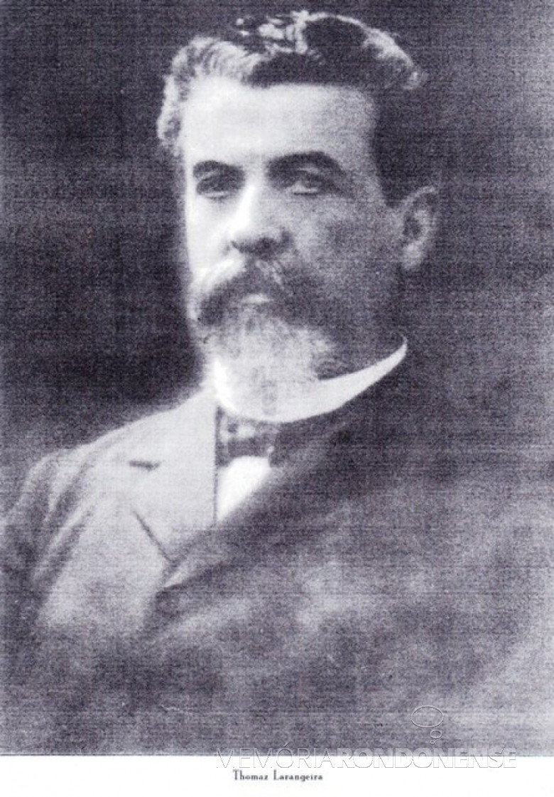 Thomaz Larangeira, fundador da Cia. Matte Larangeira, nascido na cidade catarinense de Laguna.  Imagem: www.thomazlarangeira.com.br - FOTO 1 -