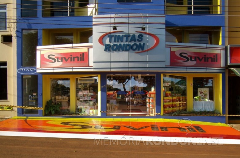 Atual sede própria da empresa Tintas Rondon, localizada à Avenida Rio Grande do Sul.  Imagem: Acervo Tintas Rondon - FOTO 7 -