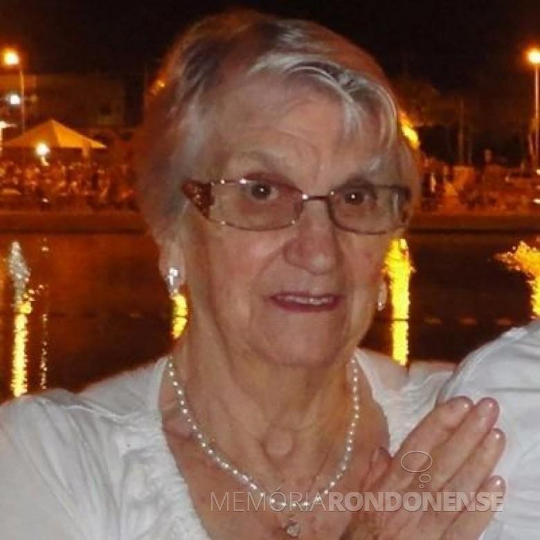 Pioneira Helga Herrmann falecida em 27 de novembro de 2017.  Imagem: Acervo da família - FOTO 7 -