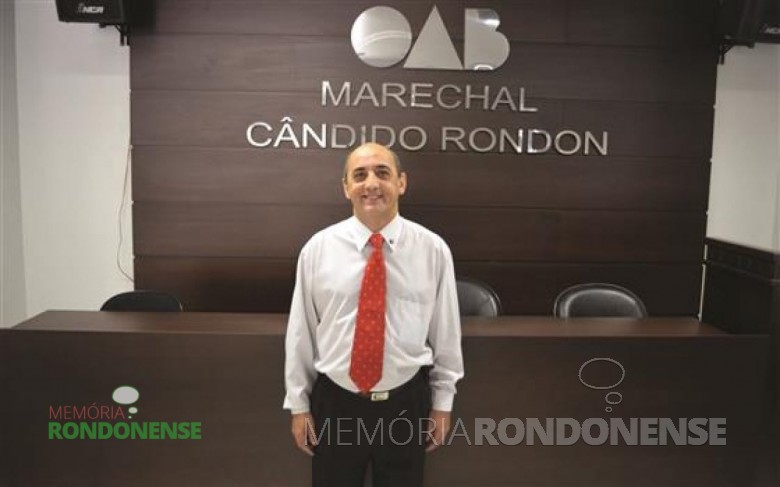 Advogado Antonio França eleito pela 3ª vez como presidente da OAB-PR - Seccional de Marechal Cândido Rondon.  Imagem: Acervo O Presente - FOTO 4 -
