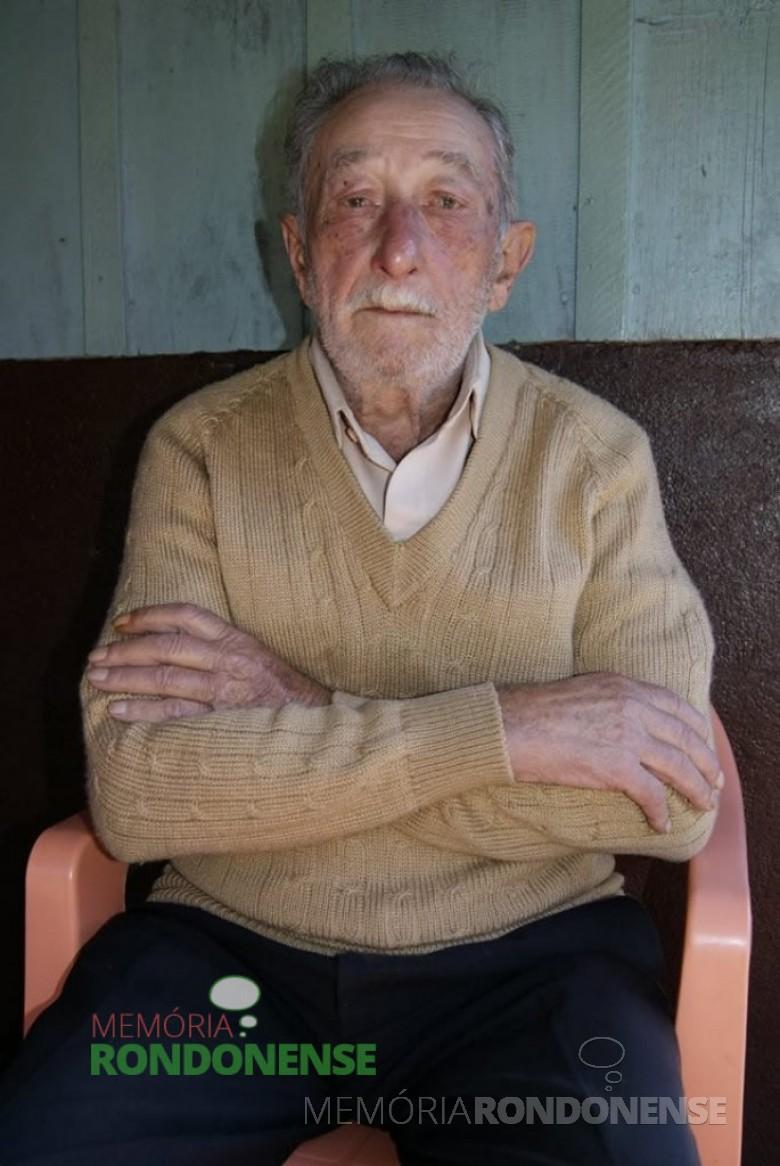 O pioneiro Oswaldo Heinrich, falecido em agosto de 2010.  Imagem: Acervo Cristiano Viteck