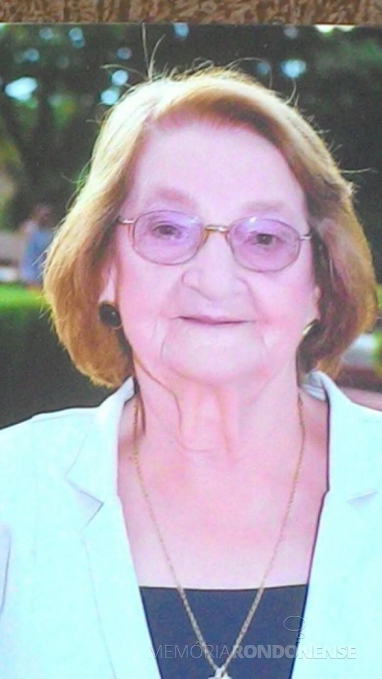 Pioneira quatropontense Maria Francener.  Imagem: Acervo Dirce Francener - FOTO 11 -