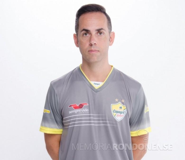 Preparador físico Harrison Fabrício Mussy Rodrigues que deixa a Copagril Futsal, em 04 de agosto de 2016.  Imagem: Acervo AquiAgora.net - FOTO 6 -