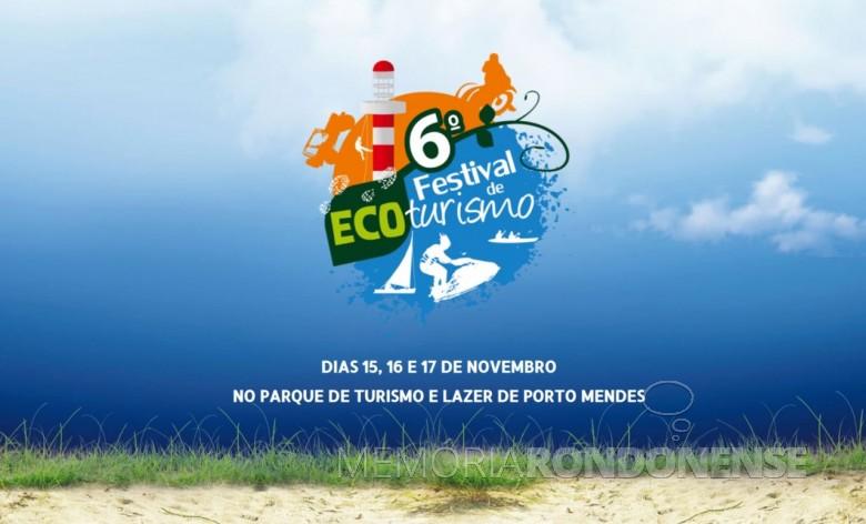 Cartaz do 6º Festival de Ecoturismo de Marechal Cândido Rondon.  Imagem: Acervo Rádio Difusora do Paraná - FOTO 21 -