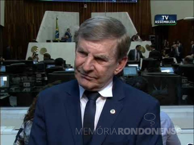 Rondonense Elio Lino Rusch deputado suplente  em função do resultado das eleições de outubro de 2018. Imagem: Acervo Assembleia Legislativa do Estado do Paraná - FOTO 10 -