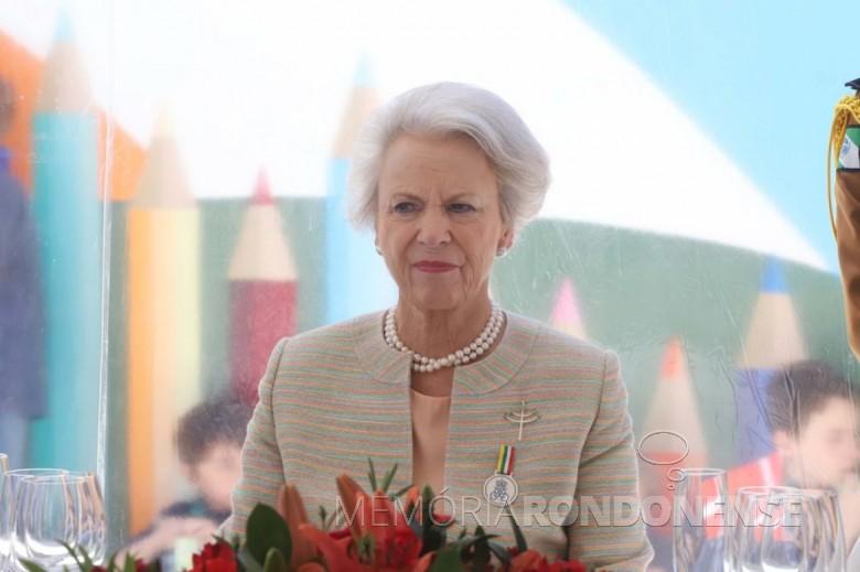 Princesa Benedikte que patrocinou a criação do instituto com o seu nome na cidade de Curitiba. Imagem: Acervo BandNews - Curitiba - Crédito Arnaldo Alves/AEN - FOTO 15 -