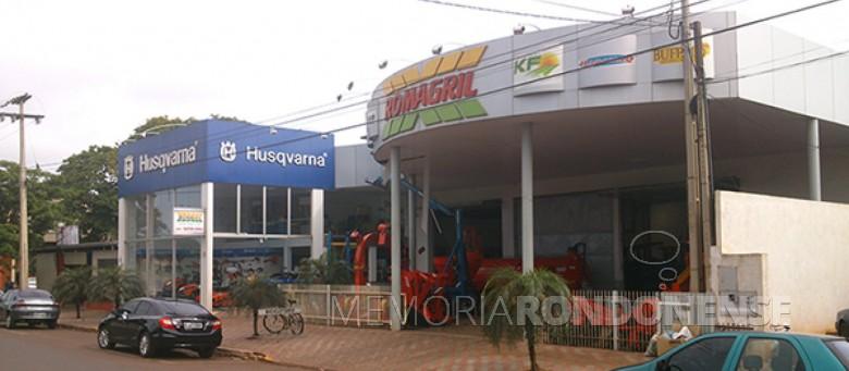 Sede da empresa Romagril, na cidade de Marechal Cândido Rondon.  Imagem: Acervo da empresa - FOTO 6 -