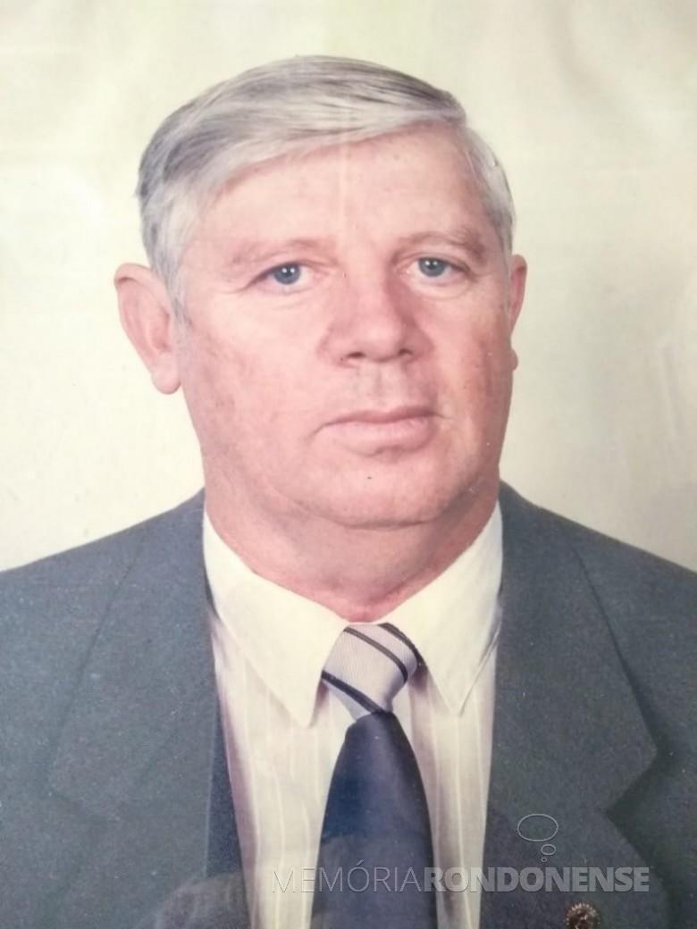 Rondonense Orlando Miguel Sturm que assumiu a presidência da Associação Municipal de Sunocultores de Marechal Cândido Rondon no começo de setembro de 1986. Imagem: Acervo Rafael Sturm - FOTO 1 -