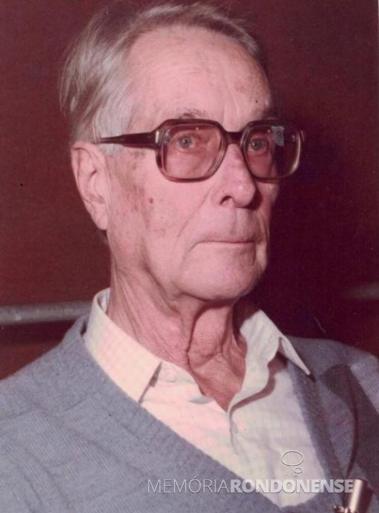 Empresário toledano Egon Werner Bercht  e ex-deputado federal, falecido em outubro de  1986. Imagem: Acervo Museu Histórico Willy Barth de Toledo - FOTO 7 --