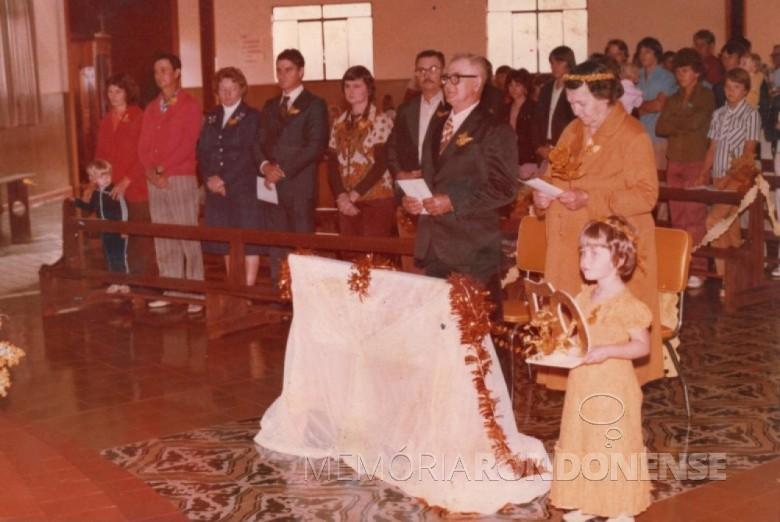 Casal Albino e Olinda Kunzler que celebraram Bodas de Ouro, em setembro de 1979. Imagem: Acervo Claci Becker Kunzler - Florianópolis - FOTO 7 -
