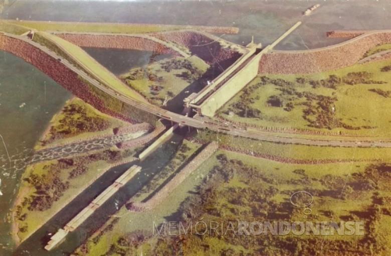 Perspectiva da projeta usina de Ilha Grande. Imagem: Acervo Elio Lino Rusch - FOTO 4 -