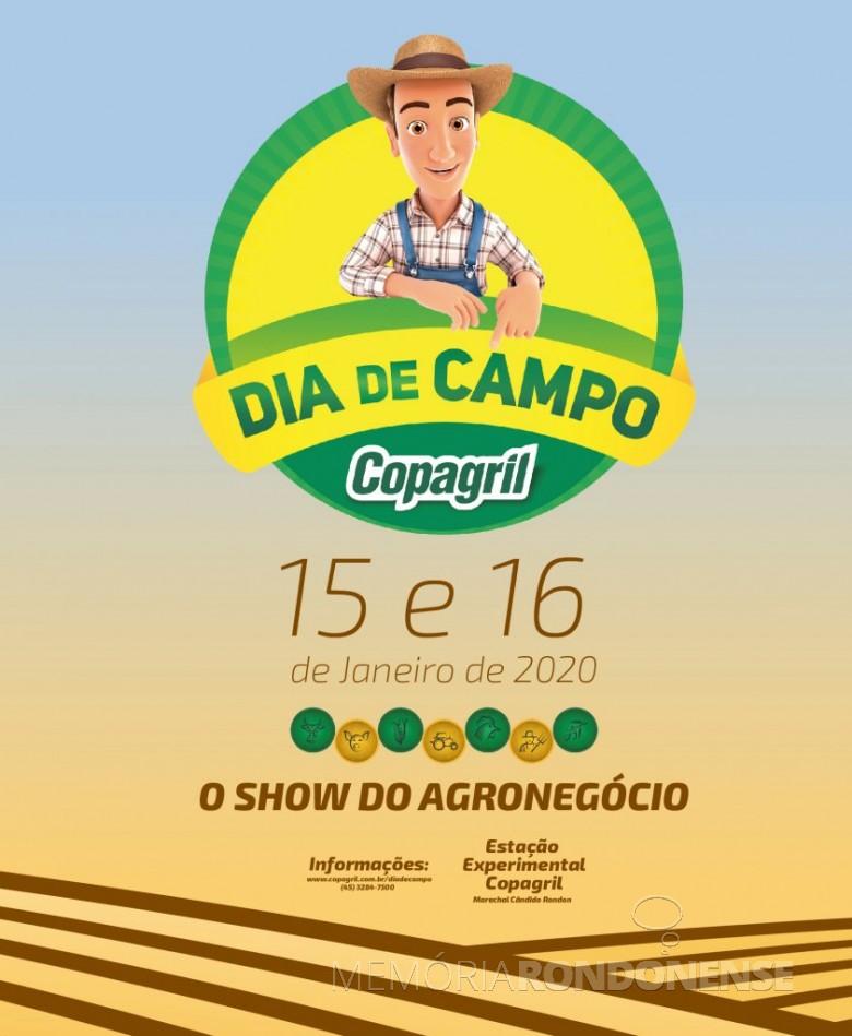 Banner do Dia de Campo Copagril 2020. Imagem: Acervo Projeto Memória Rondonense - Arte: Fernando Ames - FOTO 13 -