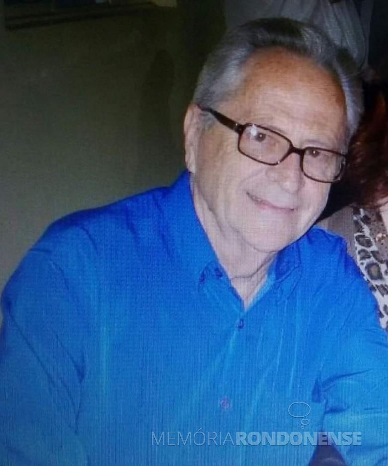Pioneiro rondonense Dorneles Ilceo Jochims falecido em janeiro de 2020.  Imagem: Acervo da família - FOTO 7 -