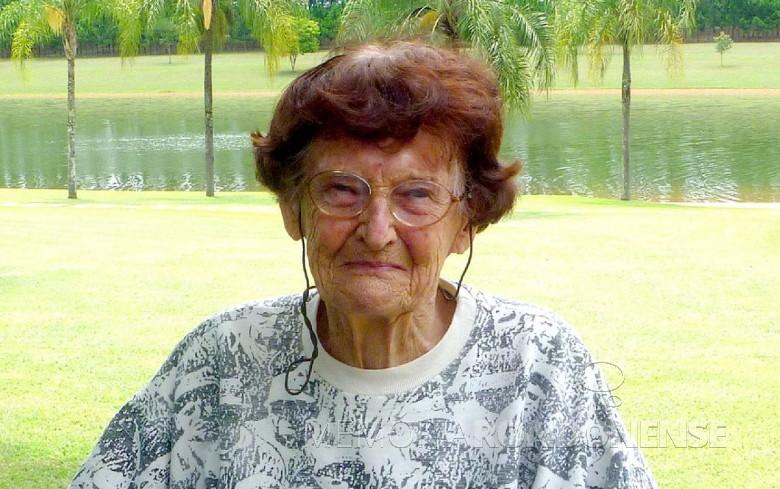 Ana Maria Primavesi - precursora da agroecologia no Brasil. Imagem: Acervo pessoal - FOTO 11 -