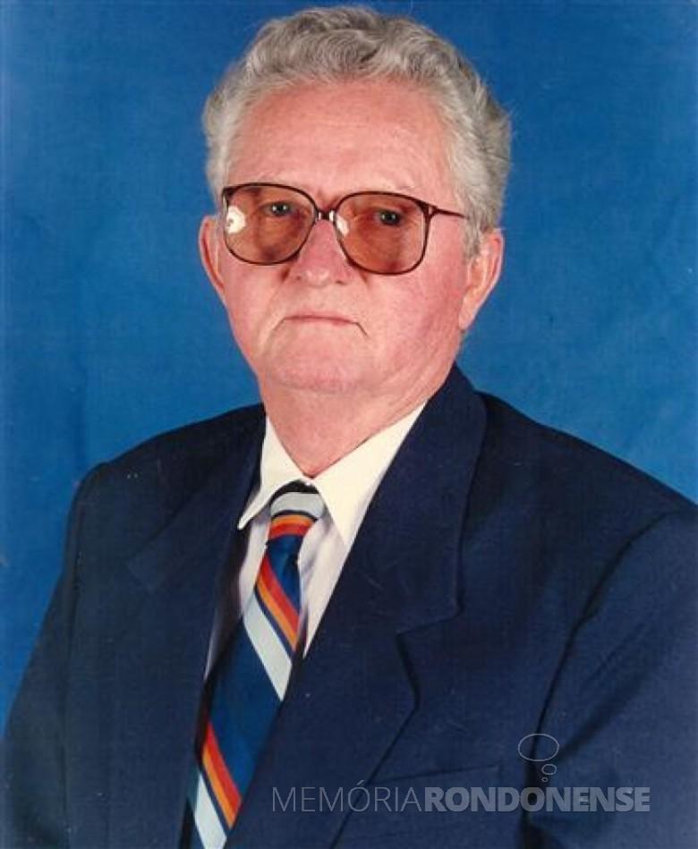 Norberto Neumeister eleito presidente da Assemar, em final de Outubro de 1986. Imagem: Acervo SAAE - Marechal Cândido Rondon - FOTO 7 -
