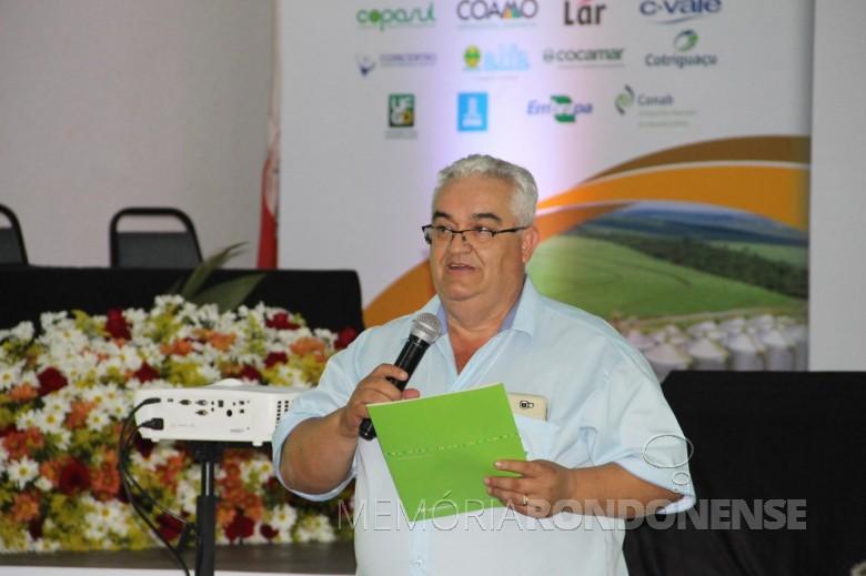 Luiz Carlos Rodrigues, da Copagril, coordenador-geral do Simpósio Pós-Colheita do Mato Grosso do Sul.  Imagem: Acervo Copagril - FOTO 7 -