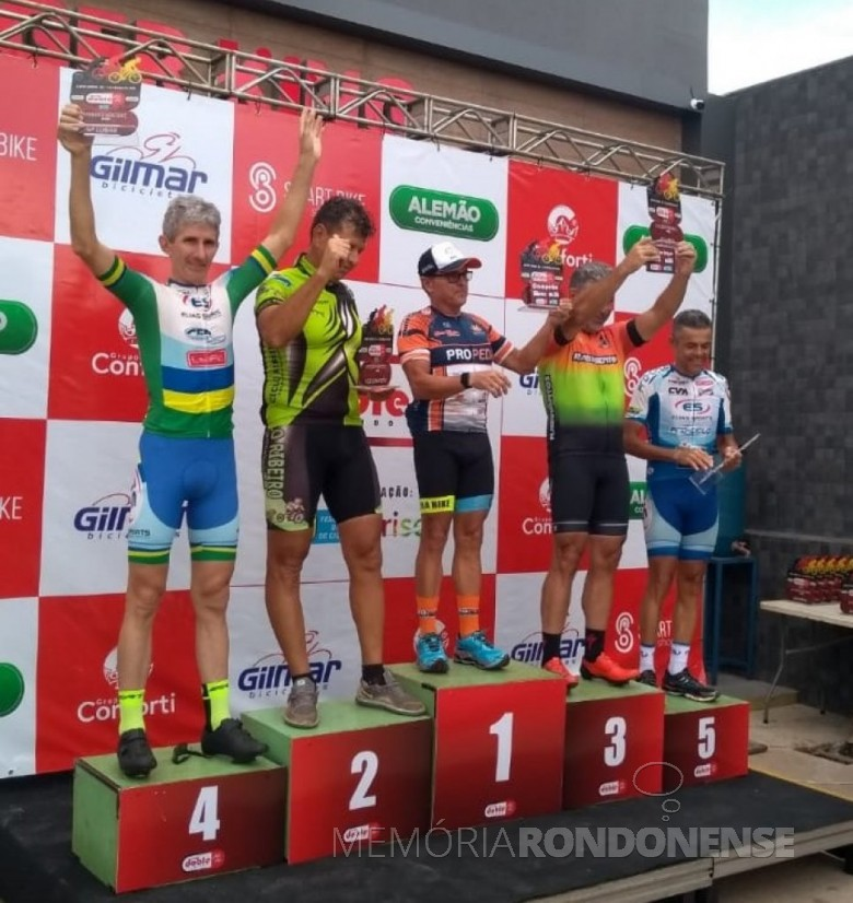 Ciclista rondonense Paul Lírio Berwig - 4º colocado na categoria Master C, do Grande Prêmio Doble Rochedo de Campo Grande, Mato Grosso do Sul, em março de 2020. Imagem: Acervo Associação Rondonense de Ciclismo (ARC) - FOTO 11 -