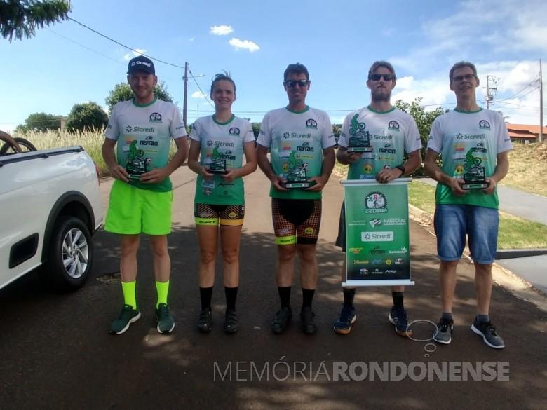 Atletas rondonenses que participaram do Campeonato Regional Oeste de Mountain Bike, etapa Medianeira (PR), em meados de março de 2020. Imagem: Acervo Associação Rondonense de Ciclismo (ARC) -  FOTO 12 -