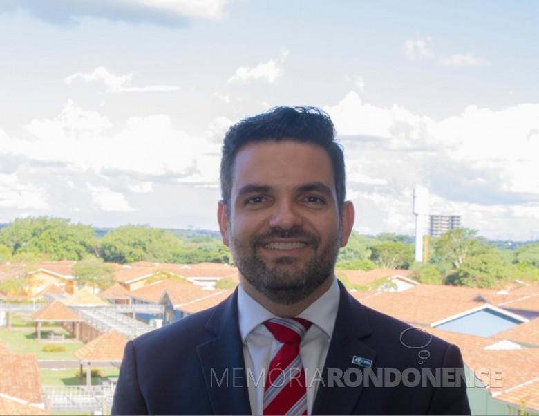 Rodrigo Régis  de Almeida Galvão que assumiu como diretor de negócios e inovação do Parque Tecnológico de Itaipu (PTI),  em fevereiro de 2020. Imagem: Acervo Projeto Memoria Rondonense - FOTO 7 -