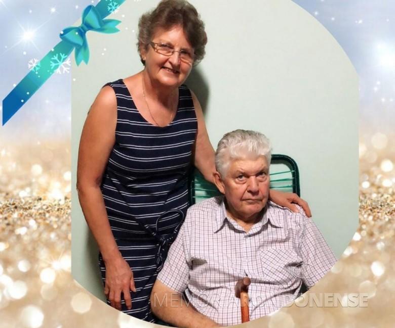Rondonense Bruno Stoef com a esposa Ledi Thums, ele falecido em março de 2020. Imagem: Acervo da família - FOTO 20 -