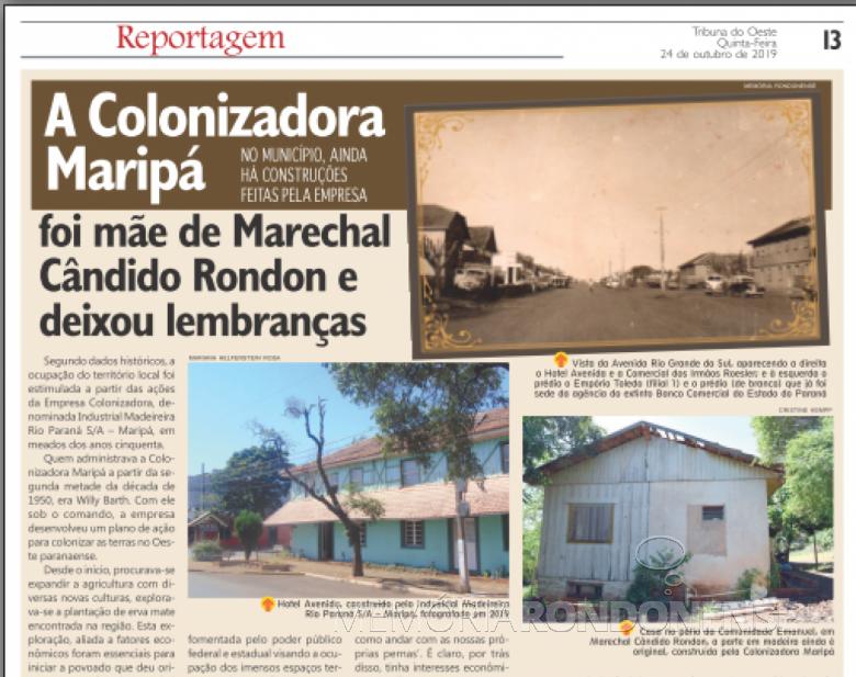 Abordagem (1ª parte) histórica do jornal rondonense