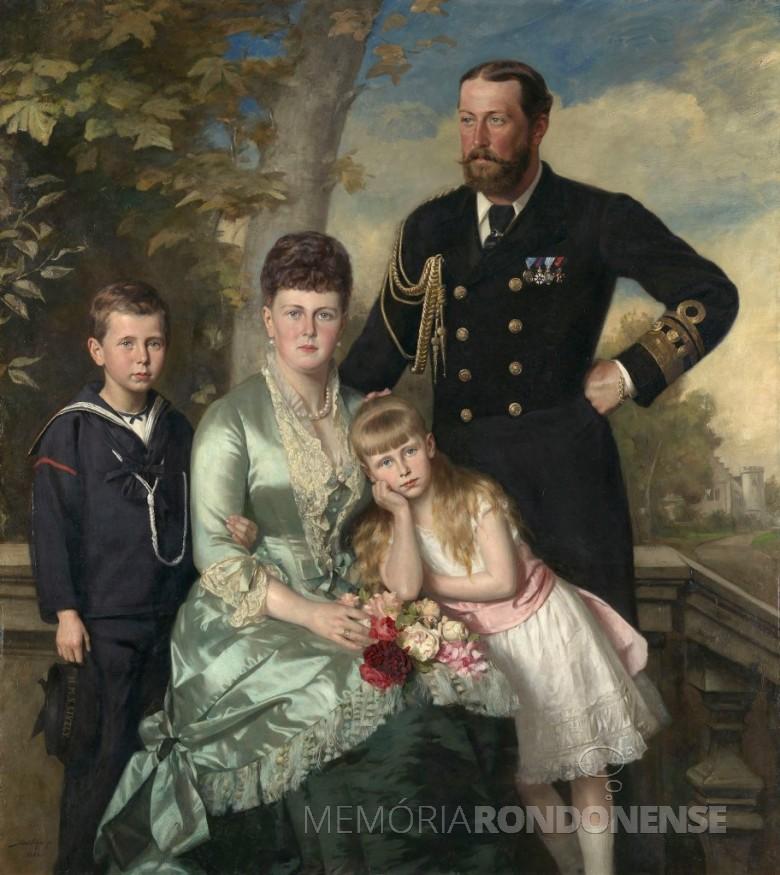 Casal grã-duquesa Maria Alexandrovna e o o Príncipe Alfred Ernest Alberto, cujo casamento que deu a origem a