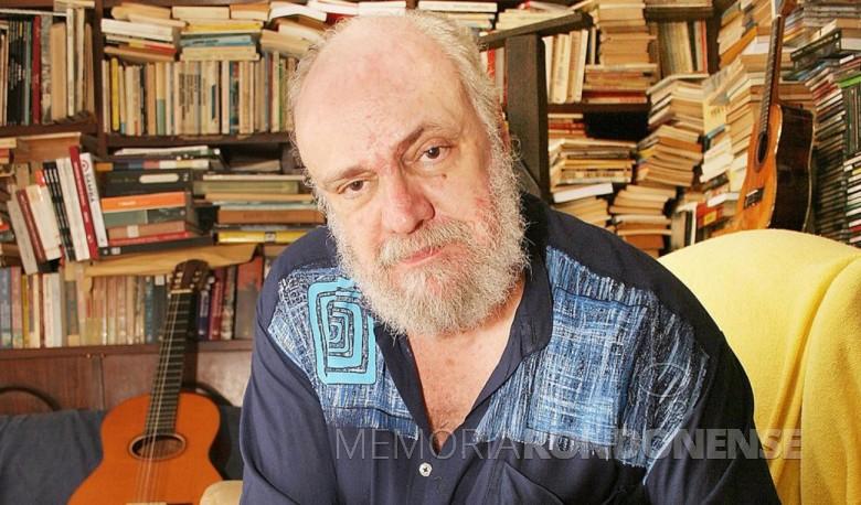 Aldir Blanc. um dos mais destacados letristas brasileiros da MPB, falecido em maio de 2020. Imagem: Acervo 247- FOTO 9 -