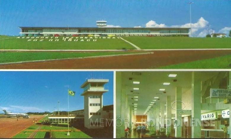 Detalhes do Aeroporto Internacional de Foz do Iguaçu logo depois do final da pavimentação e construção da estrutura física. Imagem: Acervo Walter Dysarsz -FOTO 11 -