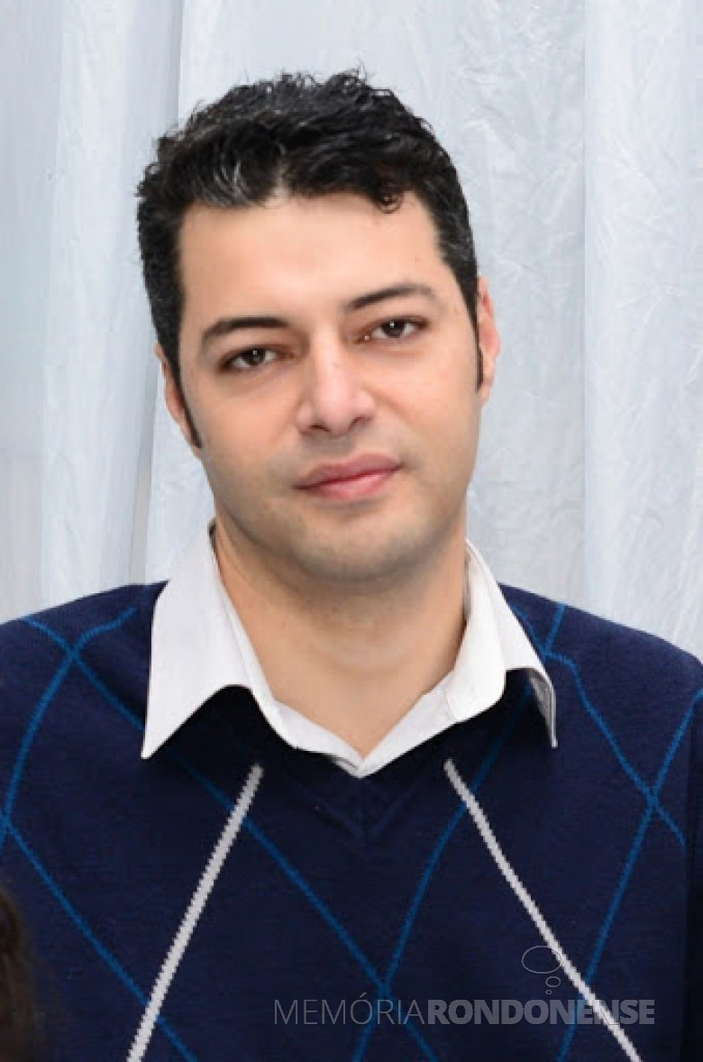 Empresário Vinícios do Amaral Facco que assumiu a presidência da Associação Comercial, Industrial e Agropecuária de Pato Bragado, no começo de junho de 2020. Imagem: Acervo ACIBRA - FOTO 19-