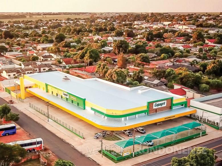 Vista do Supermecado Copagril na cidade de Eldorado (MS), inaugurado no começo de junho de 2020. Imagem: Acervo Comunicação Copagril - FOTO 9 -