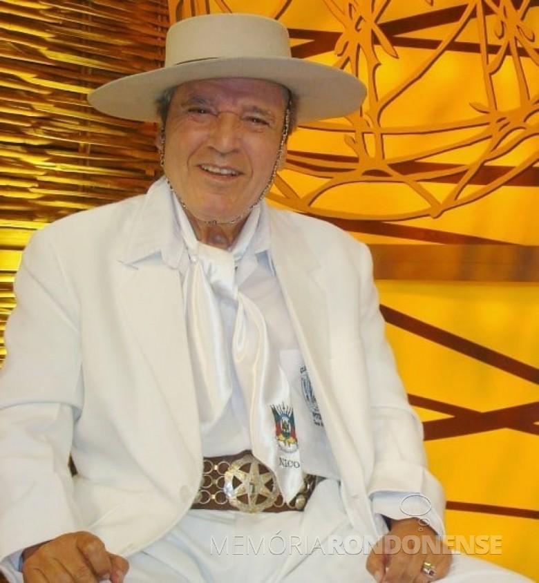 Tradicionalista gaúcho Nico Fagundes, falecido em junho de 2015.  Imagem: Acervo e crédito do autor - FOTO 4 -